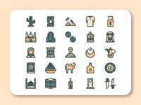 Saudi Arabia Icon Set