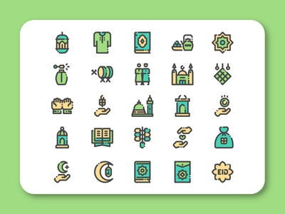 Eid Al Fitr Icon Set eidmubarak ramadan eid islamicart islamic arab culture design iconset iconpack icon
