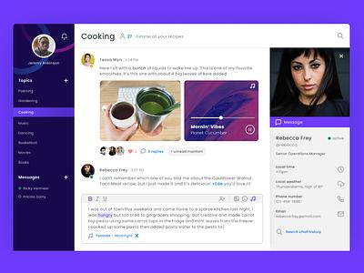 Desktop Messaging App Interface ui ux design