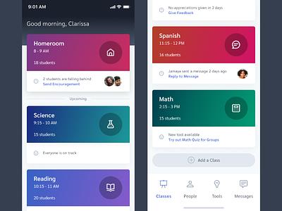 Education App UI Exploration design ux ui