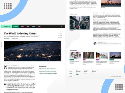 Magazine Website UI design ux ui