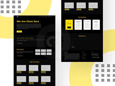 Giant Zero website design web design ux ui design