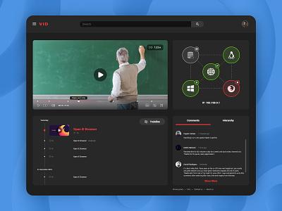 Online Video Training Platform webdesign website dark app dark dark theme dark mode dark ui ui design uidesign ui  ux uiux user interface design user experience user interface userinterface ux ui mobin bahrami bmdx design