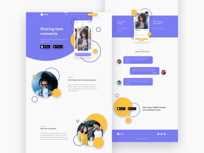 Rent a friend App - Ume | Landing Page