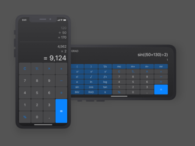 Calculator dark mode