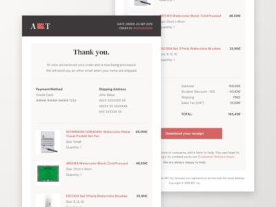 Email Receipt - Art Online Store