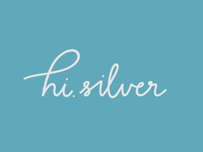 hi silver logo typography logo design
