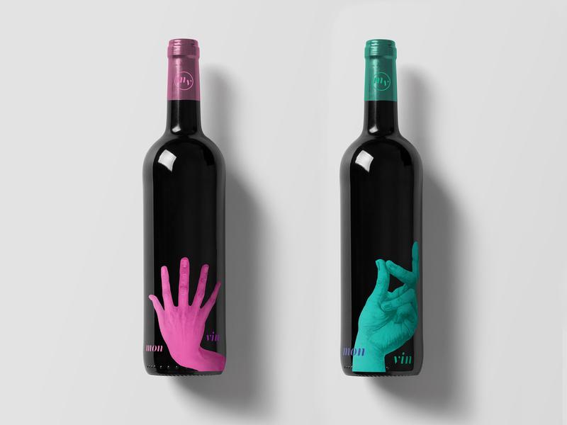 mon vin - design for wine bottle package branding design