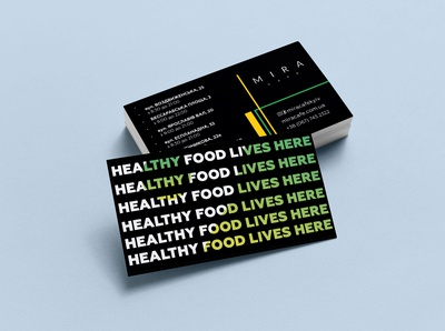 Business Card - MIRA Cafe