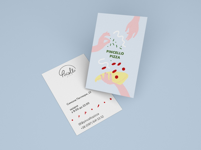 Business Card - Pincello illustration art print icon logo branding print and pattern vector print illustration design