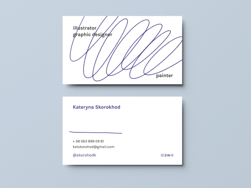 Business Card typography branding print illustration design