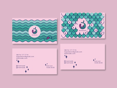 Business card - MERMADE lettering typography branding print and pattern vector print illustration design