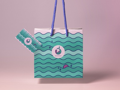 Bag - MERMADE logo illustration art print package branding print and pattern vector print illustration design