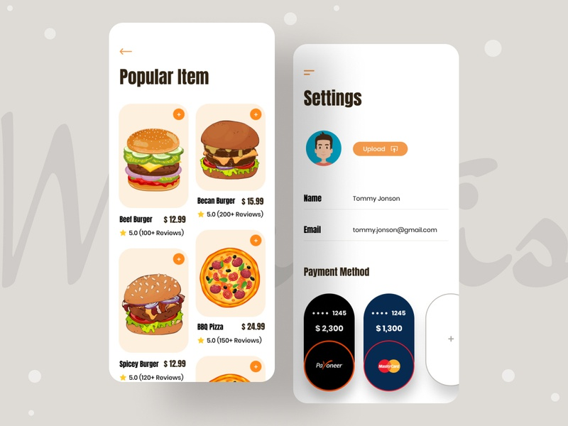 Food Delivery App mobile app app home delivery app pizza burger shop food delivery app food snacks ios app design android app minimal design illustration typography uiux