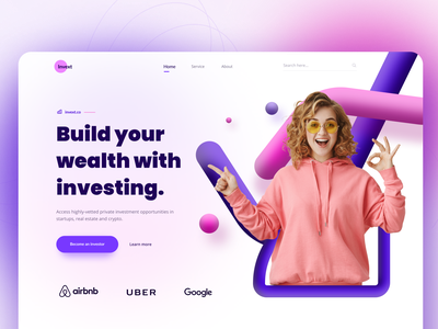 """Invext"" a Web UI Exploration digital marketing online course to do list car rental fitness logo illustration money transfer freebie event booking food delivery travel ecommerce mobile banking investment finance landing page design minimal design typography uiux"
