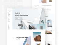Architect agency landing page