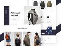 Back Pack Landing Page