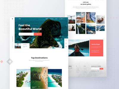 Travelling Landing Page