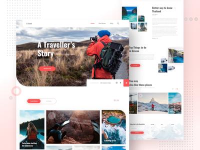 Travel Blog Landing Page