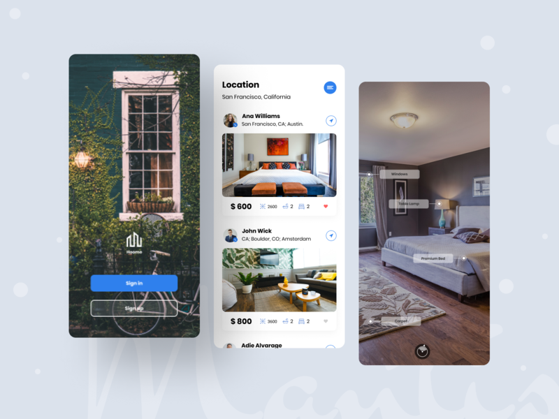 """Hoome"" home Searching App home searching house uiux home rent rent home application mobile ux mobile ui ios app app mobile app typogaphy"