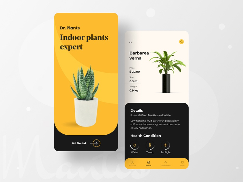 Dr. Plant Mobile App ios app design ios interior decor interior design tree app design app plant care indoor plant planting plant mobile design mobile app mobile ux mobile ui typography