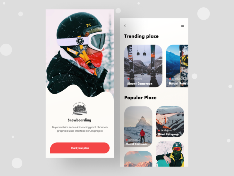 Snowboarding app typogaphy ux ui mobile app ios 7 skiing extreme sport app android sports snowboarding snow