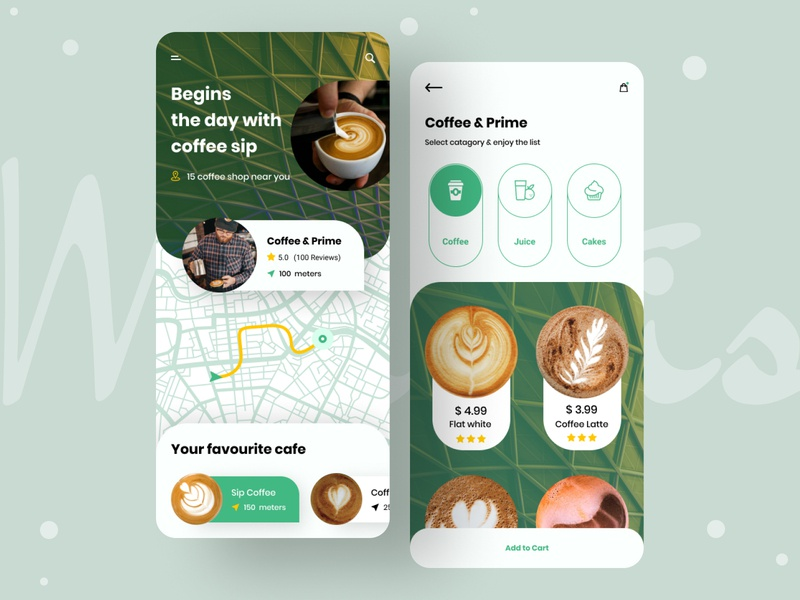 """Coffee Shop"" App android app ios uiux shopping cart app design mobile app ui ice cream cake pasty shop drinks typography coffee beans coffee bean sip shopping cafe coffeeshop coffee shop"