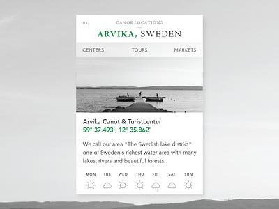 Canoe locations widget widget canoe sweden