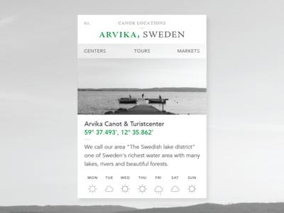 Canoe locations widget