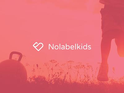 Nolabelkids logo WIP heart kids