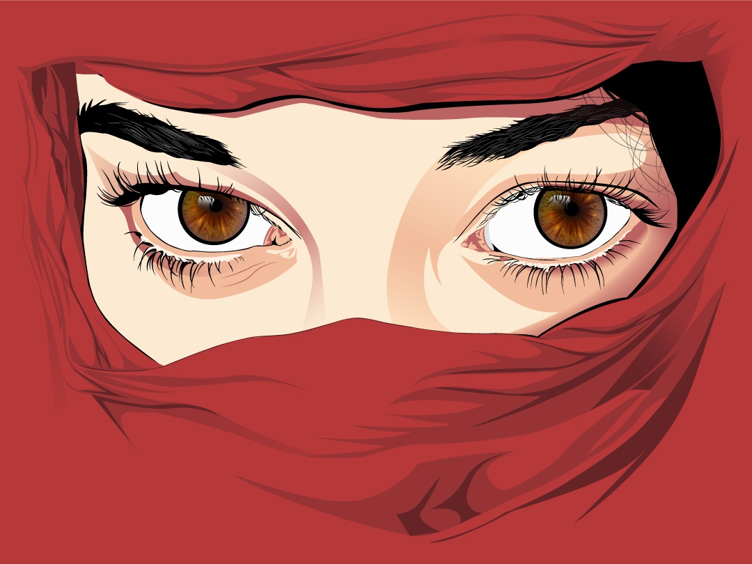 Vector Portrait vector art realistic vector realistic designs new creative vector illustration cartoonart cartoon illustration illustrator hijab detailing artwork artist art portrait vector portrait vector design
