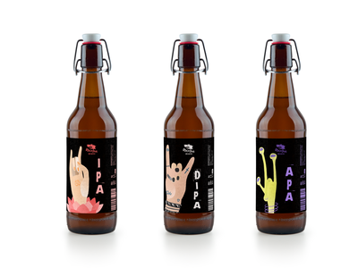 Beer label design character design package package design design illustration