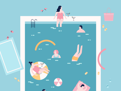 Poooool - 2 print design summertime swimming pool pattern design pattern graphic design geometry flat illustration geometric illustration geometric art vector illustration