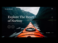 Travel website animation ui motion animation website web landing page design inspiration aftereffects travel agency cold snow nature tourism traveling norway travel