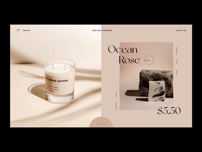 Indian Summer website concept interaction cosmetics ecommerce landing page store web typogaphy ui modern motion aftereffects trensitions interaction transition video animation