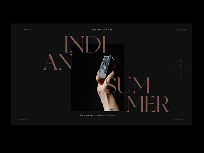 Indian Summer home screen transition transitions modern inspiration home screen video web transition ui dark landing page aftereffects typography motion animation