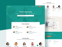 Job Search Website works job finder opportunities job search job website website design website photoshop icon concept color minimal simple clean ux design jobs in india jobseeker jobsite jobs