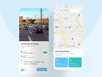 Parking App mobile app ui ux design mobile app ux mobile app design uidesign uiux design concept minimal simple clean ux figma design ios app android app mobile app mobile ui mobile parking lot parking app parking