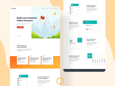 Cardinal Website figma design figma illustrator illustration art illustrations illustration web design concept color minimal simple ui clean ux design