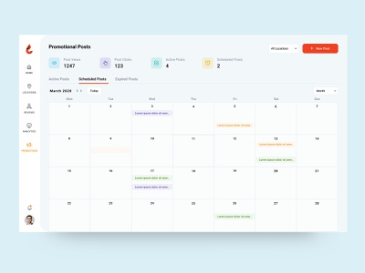 Calendar View promotions concept color minimal simple ui clean ux design calendar view schedule post post schedule planning calendar