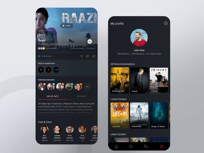Criddle App content streaming movie app movie poster movies app mobile ui mobile app design mobile apps ux social media design socialmedia social network social media mobile app concept color minimal simple ui clean design