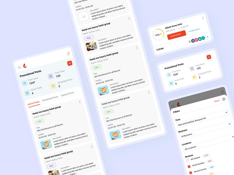 Responsive design filters social posts ratings reviews responsive design figmadesign concept color minimal simple ux design