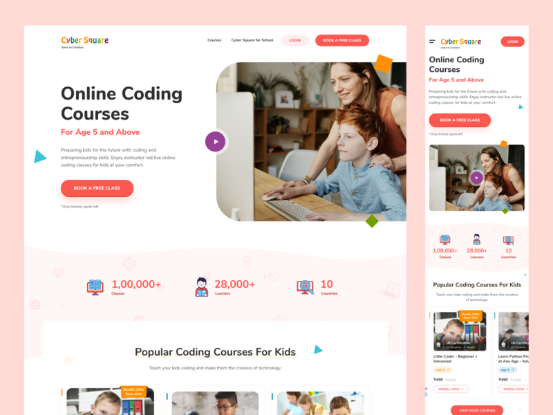Website Design kidstheme kids websitestyle webdesign web design websites website typography web photoshop icon concept color minimal simple ui clean ux design