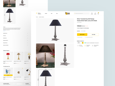 Product detail page ecommerce photoshop icon concept color minimal ui simple clean ux design