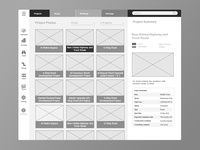 Construction Project Wireframe