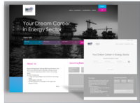 Landing Page for a Training Portal