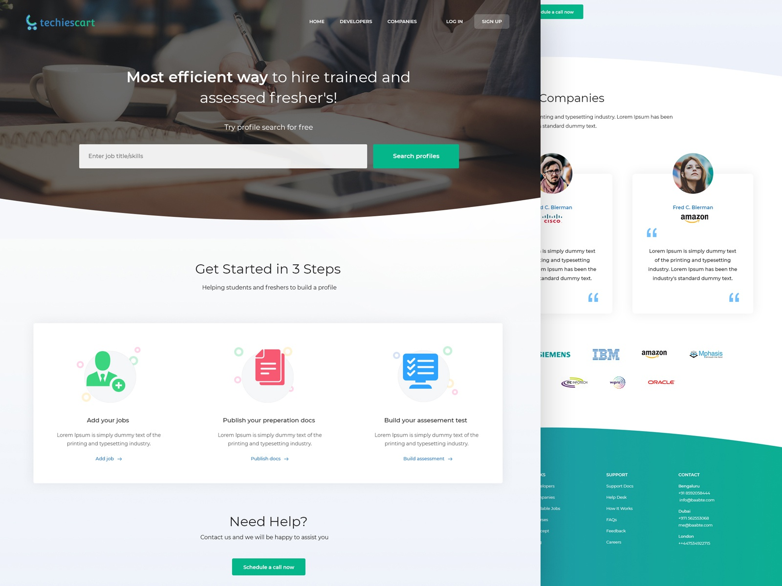 Company Landing Page by Aufait UX on Dribbble