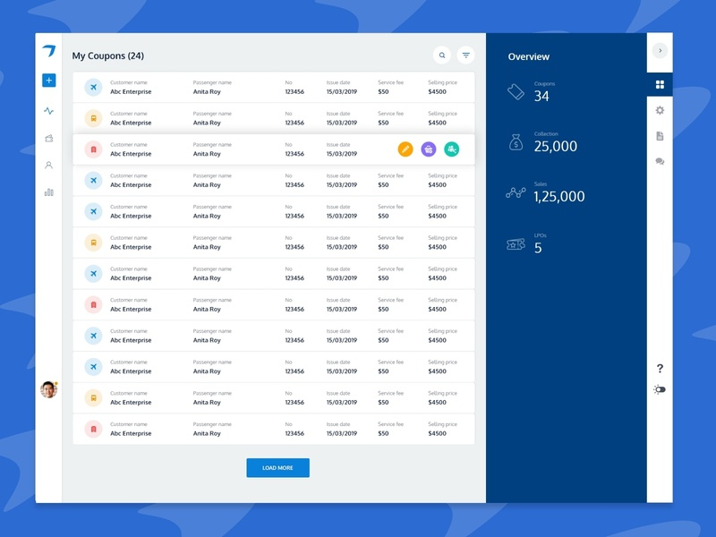 ERP Dashboard erp type photoshop minimal interface graphic desgin dailyui concept color art web icon simple blue dashbaord typography design clean ui ux