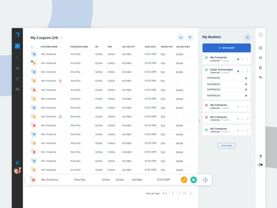 Dashboard for Travel Agencies.