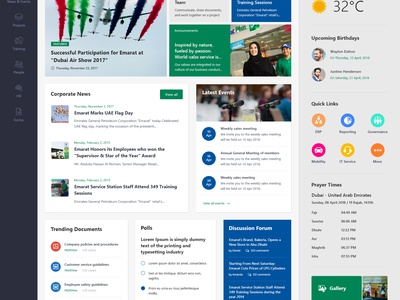 Intranet Home Page typography logo dailyui web design photoshop web concept color icon minimal simple clean ux ui design sharepoint design intranet design home sharepoint intranet